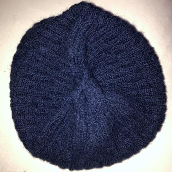 Aritzia Blue Knit Beret